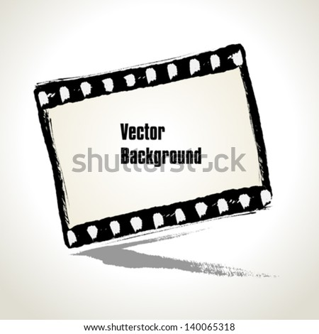 Vector: Aged  illustration of a grunge filmstrip frame with space for your text or image - stock vector