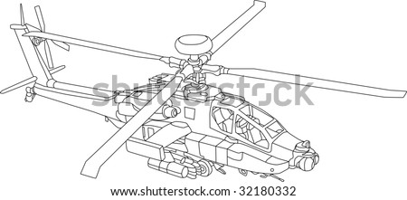 military coloring pages iraq | Apache Helicopter Stock Photos, Images, & Pictures ...