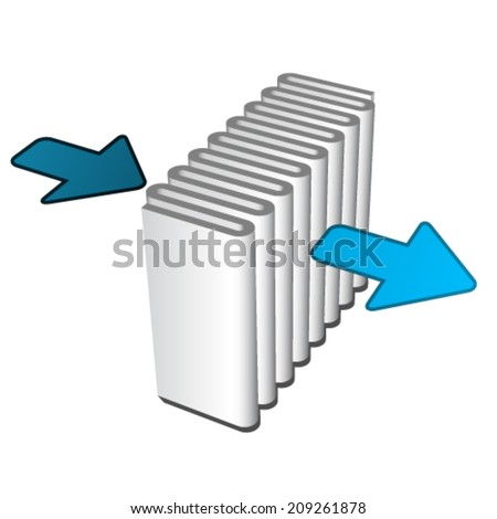 vector air filter effect icon - stock vector