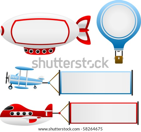 Vector Air Travel Banners