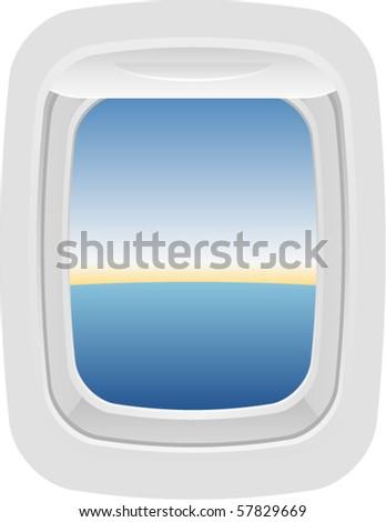 Vector Aircraft Window 2 - stock vector