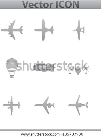 Vector airplan icon 01.03.13 - stock vector