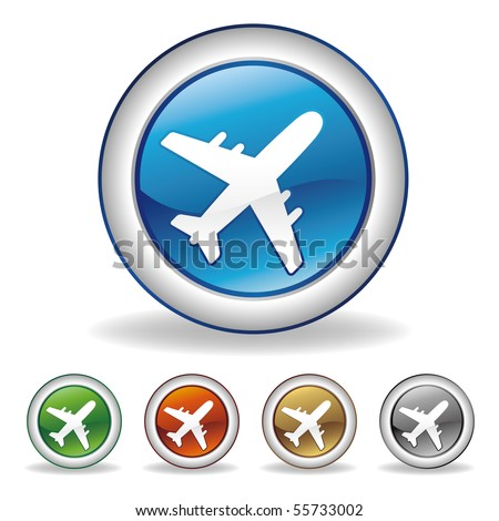 vector airplane icon - stock vector