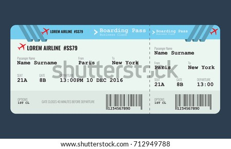 template airline ticket