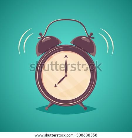 Vector alarm clock - stock vector