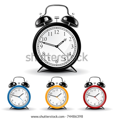 Vector alarm clock - stock vector