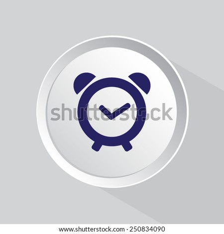 Vector Alarm Clock Icon Symbol - stock vector