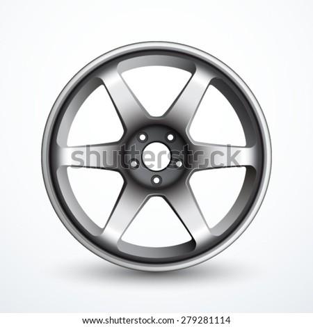 Vector alloy wheel - stock vector
