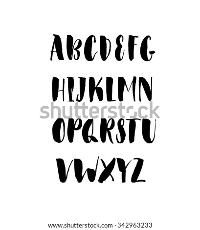 vector alphabet hand drawn letters letters of the alphabet written with a brush