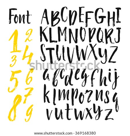 hand drawn lettering alphabet stock images royalty free images 12074 | stock vector vector alphabet hand drawn letters letters of the alphabet written with a brush 369168380