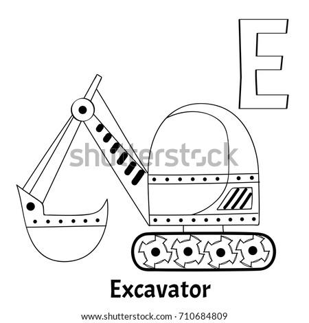 Vector Alphabet Letter E Coloring Page Stock Vector 710684809 ...