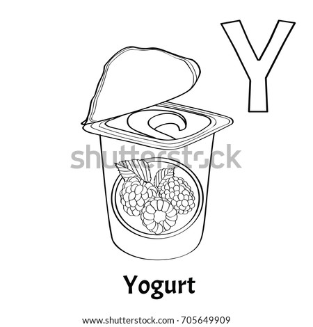 Vector Alphabet Letter Y Coloring Page Stock Vector 2018 705649909