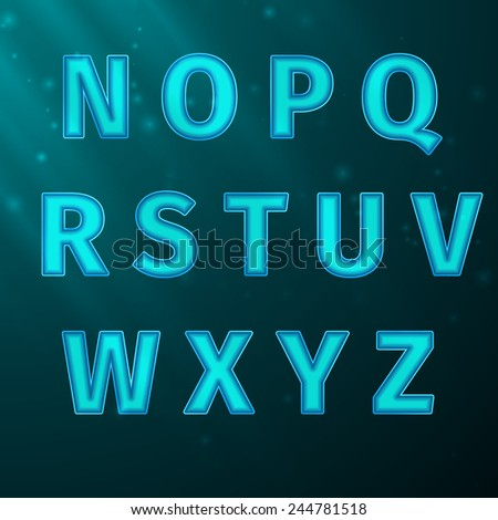 Vector Alphabet Typeface Font, excellent vector illustration, EPS 10 - stock vector