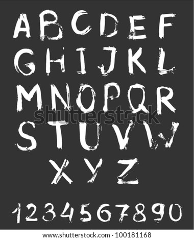 Vector alphabet with numbers.