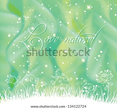 Vector amazing fantasy landscape background. - stock vector