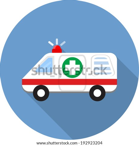 Vector ambulance car icons  - stock vector