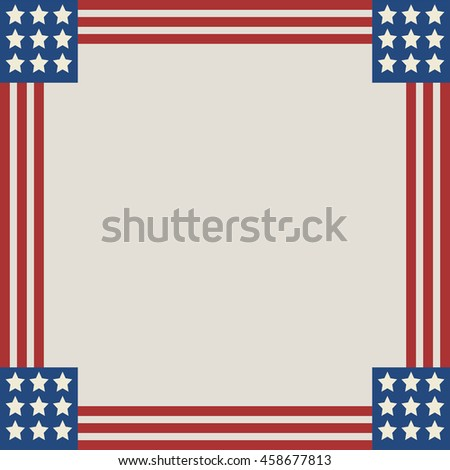 Vector American Flag Frame Stock Photo