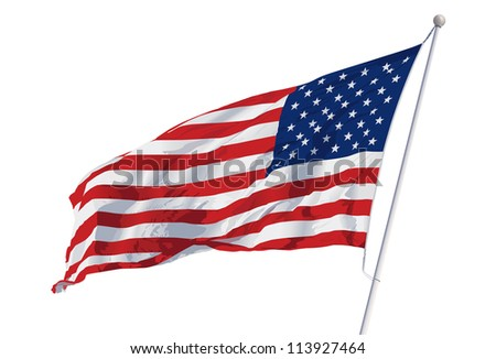 Wavy Flag Vector images  Waving American Flag Outline