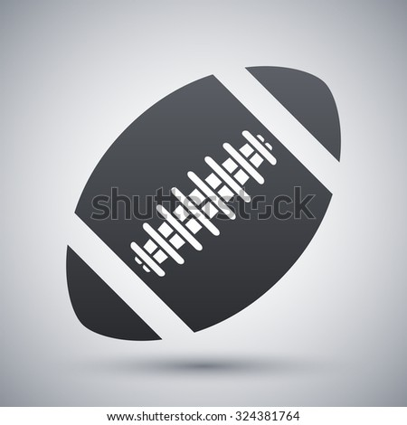 Vector american football ball icon - stock vector