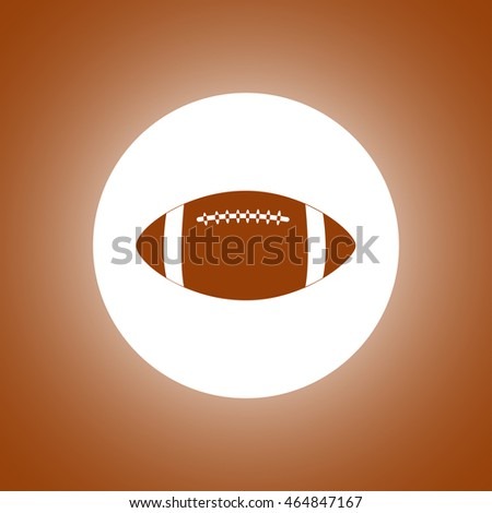 Vector American Football. Flat design style eps 10