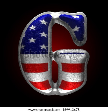 Vector American metal figure - stock vector