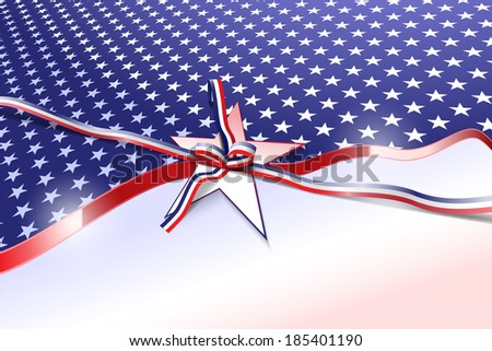 Vector American Patriotic Background, Eps 10 Vector, Gradient Mesh and Transparency Used , Raster Version Available - stock vector