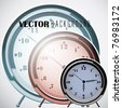 Vector Analog Clock Background - stock photo