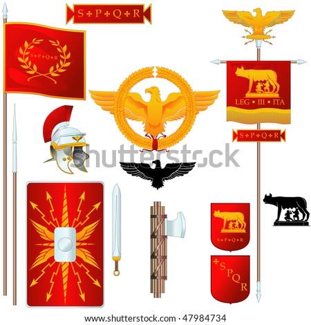 Vector Ancient Roman symbols - stock vector