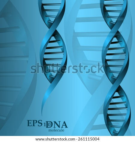 Vector and mesh DNA molecule structure background illustration. Science and biotechnology organic design element