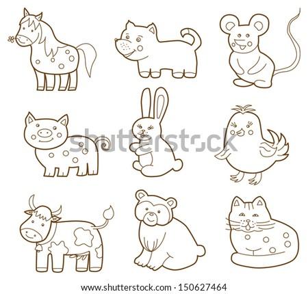 vector animal - stock vector