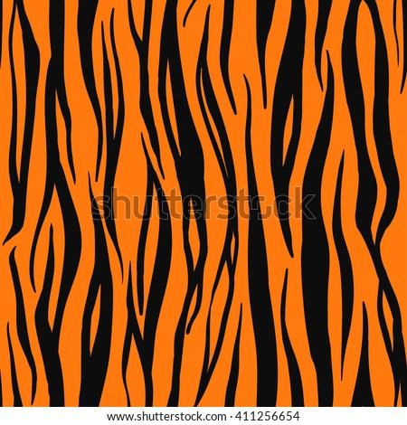 White tiger print background