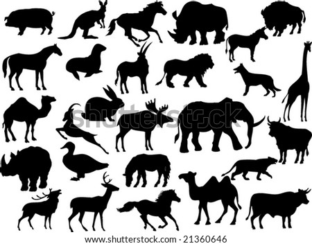 vector animal shapes