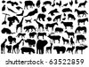 vector animal silhouettes - stock vector