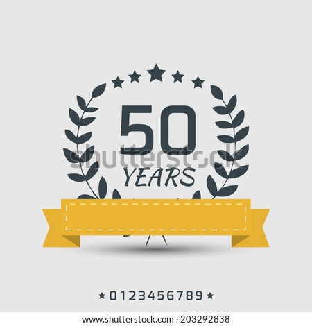Vector anniversary sign. - stock vector