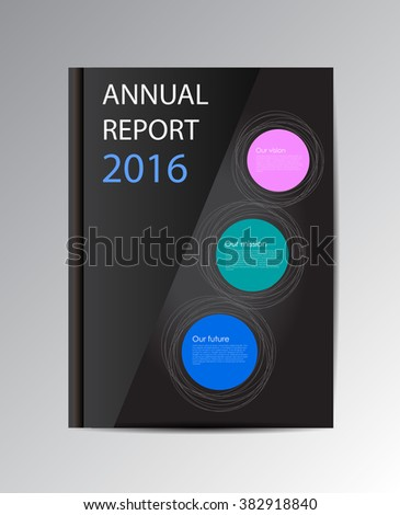 Vector annual report 2016. Book isolated over background. - stock vector