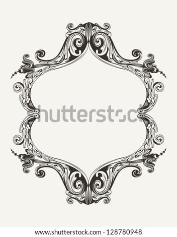 Vector Antique Vintage Royal Frame - stock vector