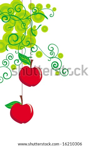 vector apples ornate background