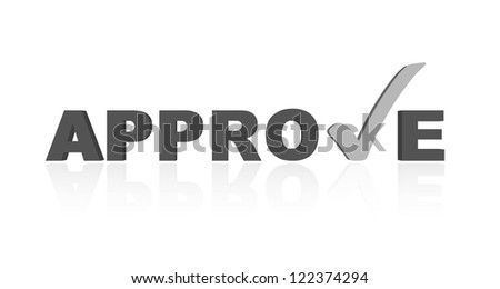 vector approve sign - stock vector