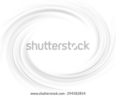 Vector aqua futuristic luxury grey modern backdrop of soft shiny swirling rippled curvy texture. Closeup view with space for text in glowing center in middle of funnel  - stock vector