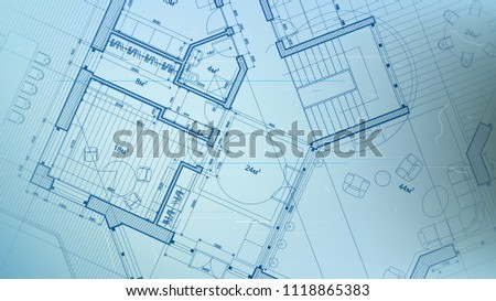 Vector architectural plan abstract architectural blueprint stock vector architectural plan abstract architectural blueprint of a modern residential building technology industry malvernweather Images
