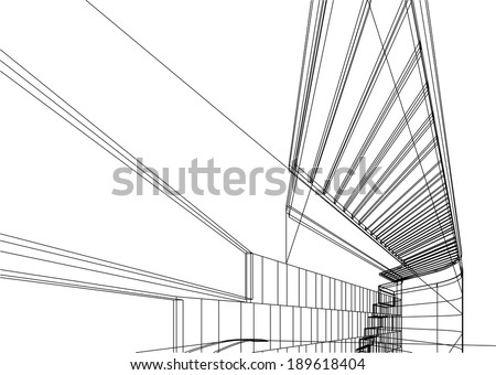 vector architecture background - stock vector