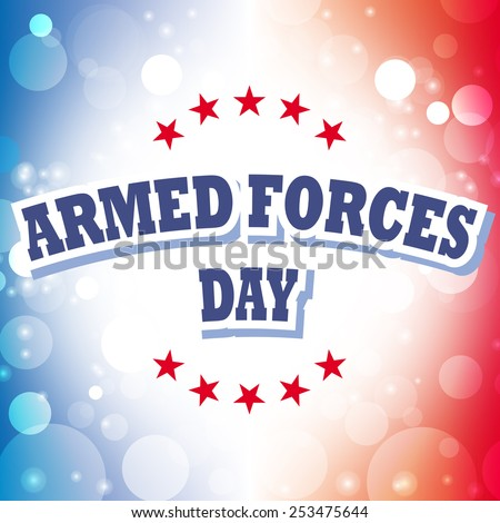 vector armed forces day america banner abstract american flag background illustration - stock vector