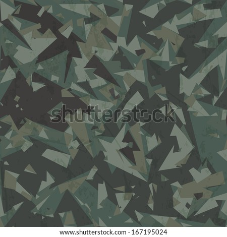 Vector army camouflage background (woodland, green) - stock vector