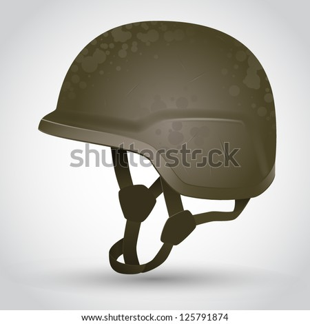Vector army helmet illustration - stock vector
