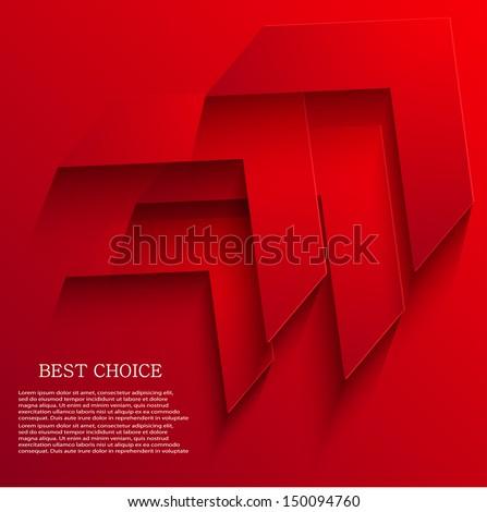 Vector arrow background. Eps10 - stock vector