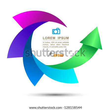 Vector arrow concept / can use for infographic/loop business report or plan / modern template / education template / business brochure - stock vector
