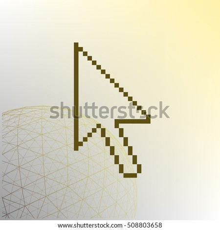 Vector arrow cursor stock icon illustration design
