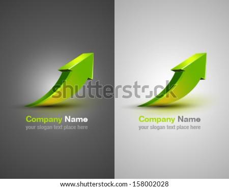 Vector arrow. Design element. Abstract company identity. Success icon. - stock vector