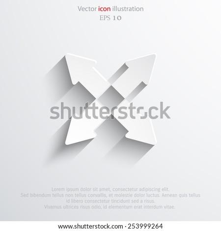 Vector arrow flat icon illustration. Eps 10 image. - stock vector