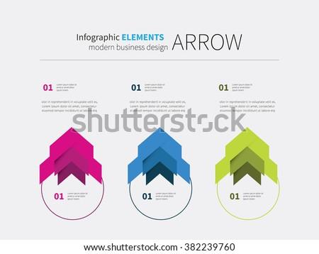 vector arrow options elements design, circular, upward, motivation.  infographics element circle - stock vector
